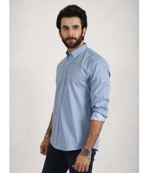 ACE 70032 (W19) Mens Casual Shirt F/s S Blue