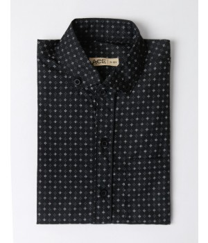 ACE 29010 (W20) Boys Shirt F/S Black