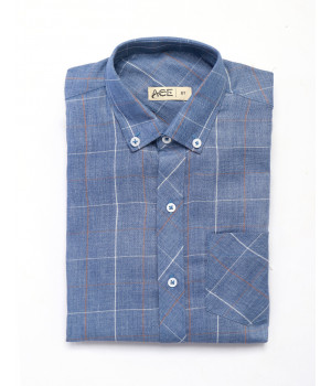 ACE 29016 (W20) Boys Shirt F/S Blue