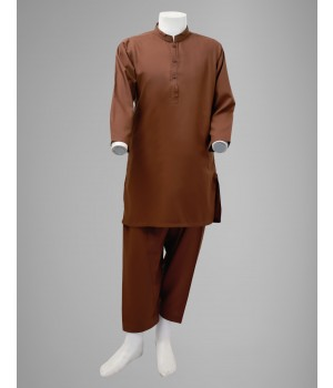 ACE 23013D (S20) Boys Kurta Shalwar Brown