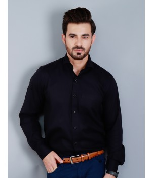 ACE 15027 (S20) Mens Formal Shirt Black