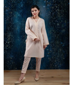 ACE 90009 (S20) Ladies 2p P/Kurti Suit Fawn