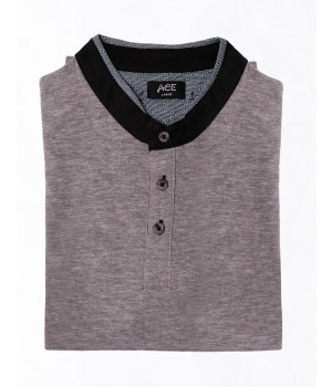 ACE 44007 (S21) MensT Shirt Henely H/s Grey