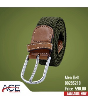 Green color braided cord belt