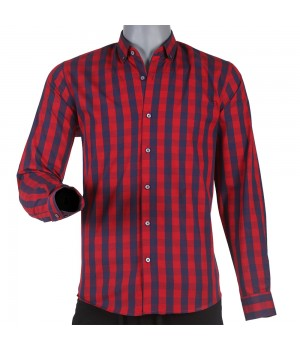 ACE 70004 (W19) Mens Casual Shirt Maroon