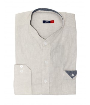 ACE 70057 (S20) Mens Casual Shirt F/s L Grey