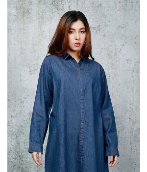 Ace 13128A (W20) Ladies Denim Kurti Blue