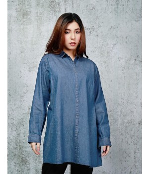 Ace 13128B (W20) Ladies Denim Kurti L Blue